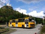 Autobus Ikarus 263 v obci Füzér