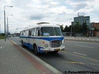 Autobus Škoda 706 RTO Car prichádza na zastávku SOŠ Automobilová