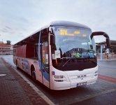 MAN Lion's Regio #4Z85371 dopravce ČSAD BUS Uherské Hradiště, čeká na odjezd na spoj 7 linky 374.