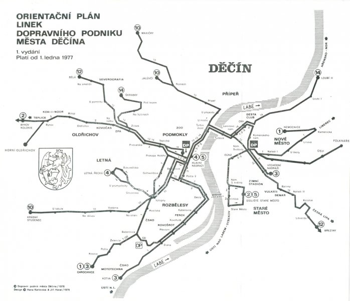 vozový plán linek.